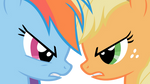 Applejack vs Rainbow Dash