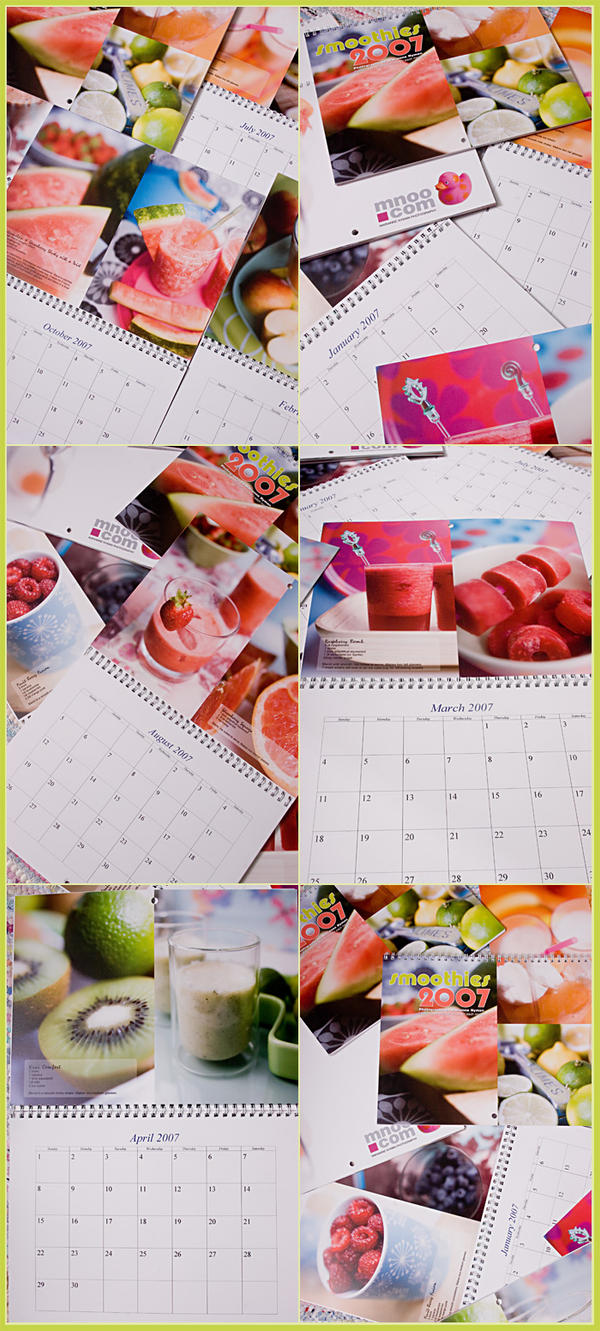 Calendar product shots by mnoo