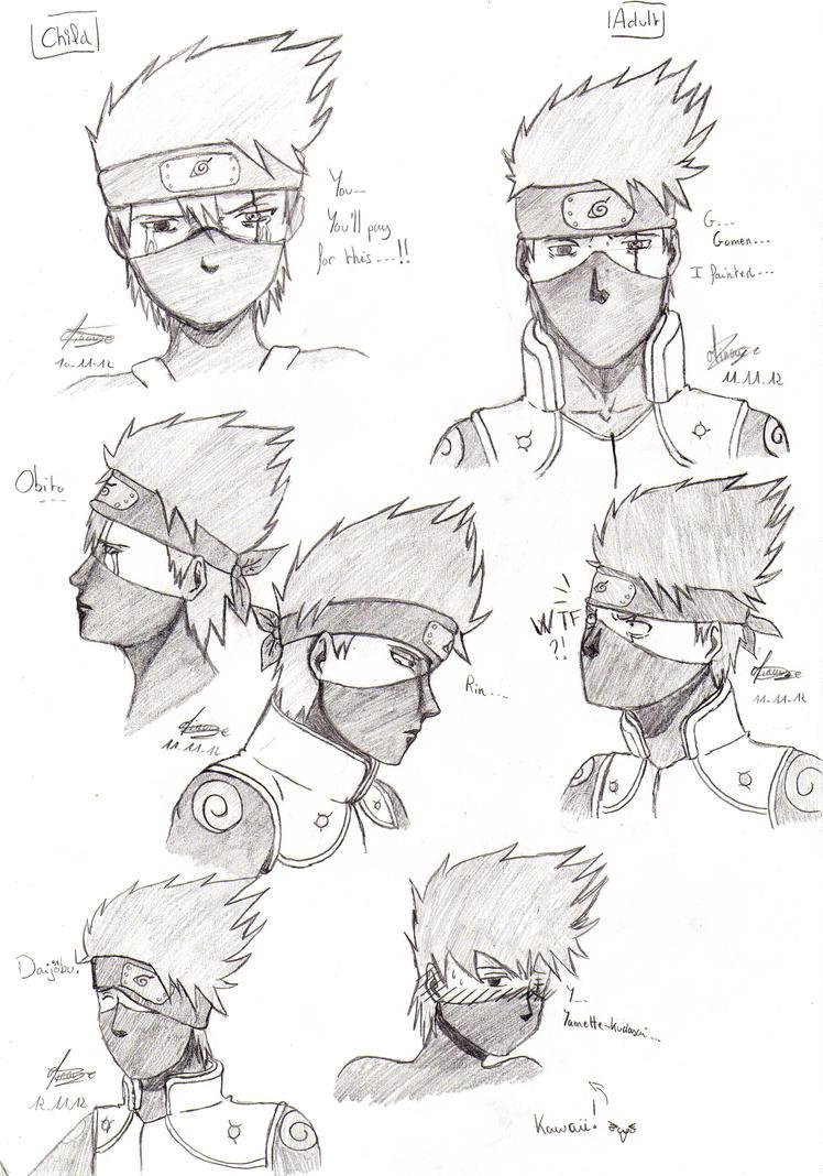 Naruto - Kakashi Sketch's by Minouze