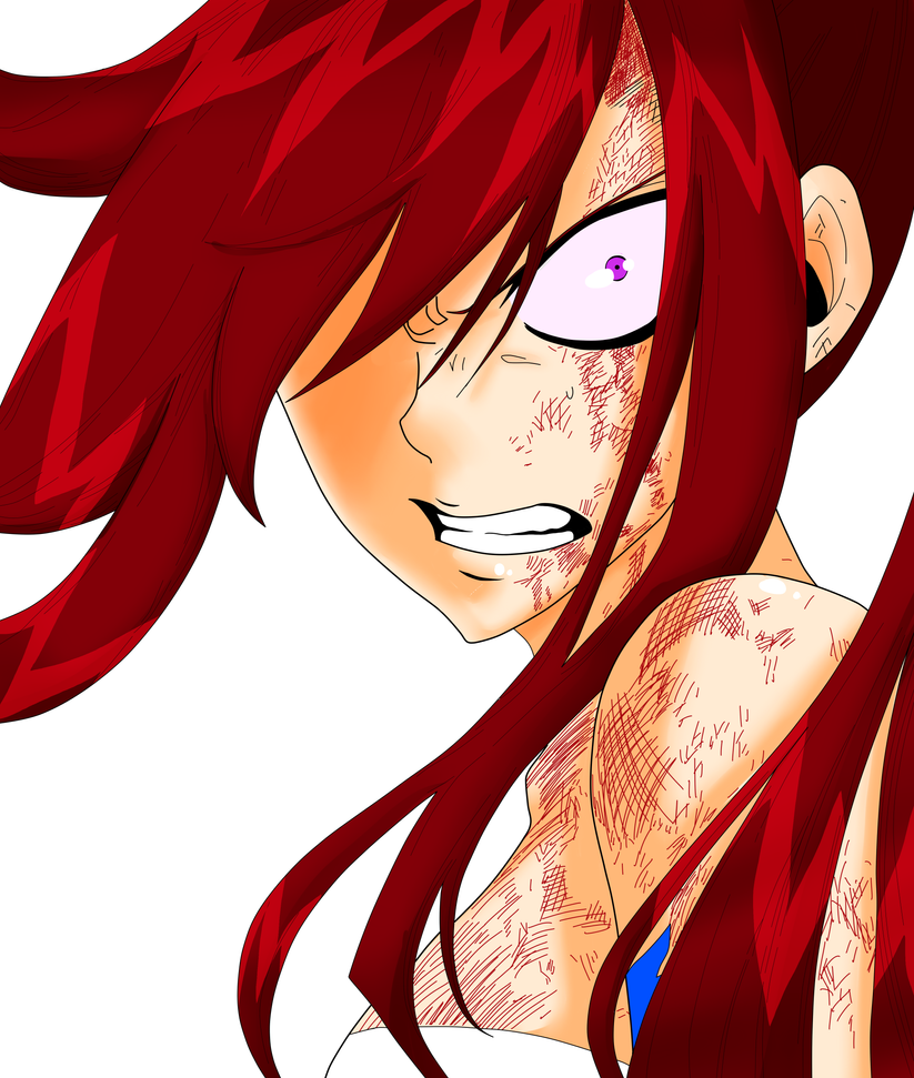 FT - Angry Erza colored by Minouze on DeviantArt