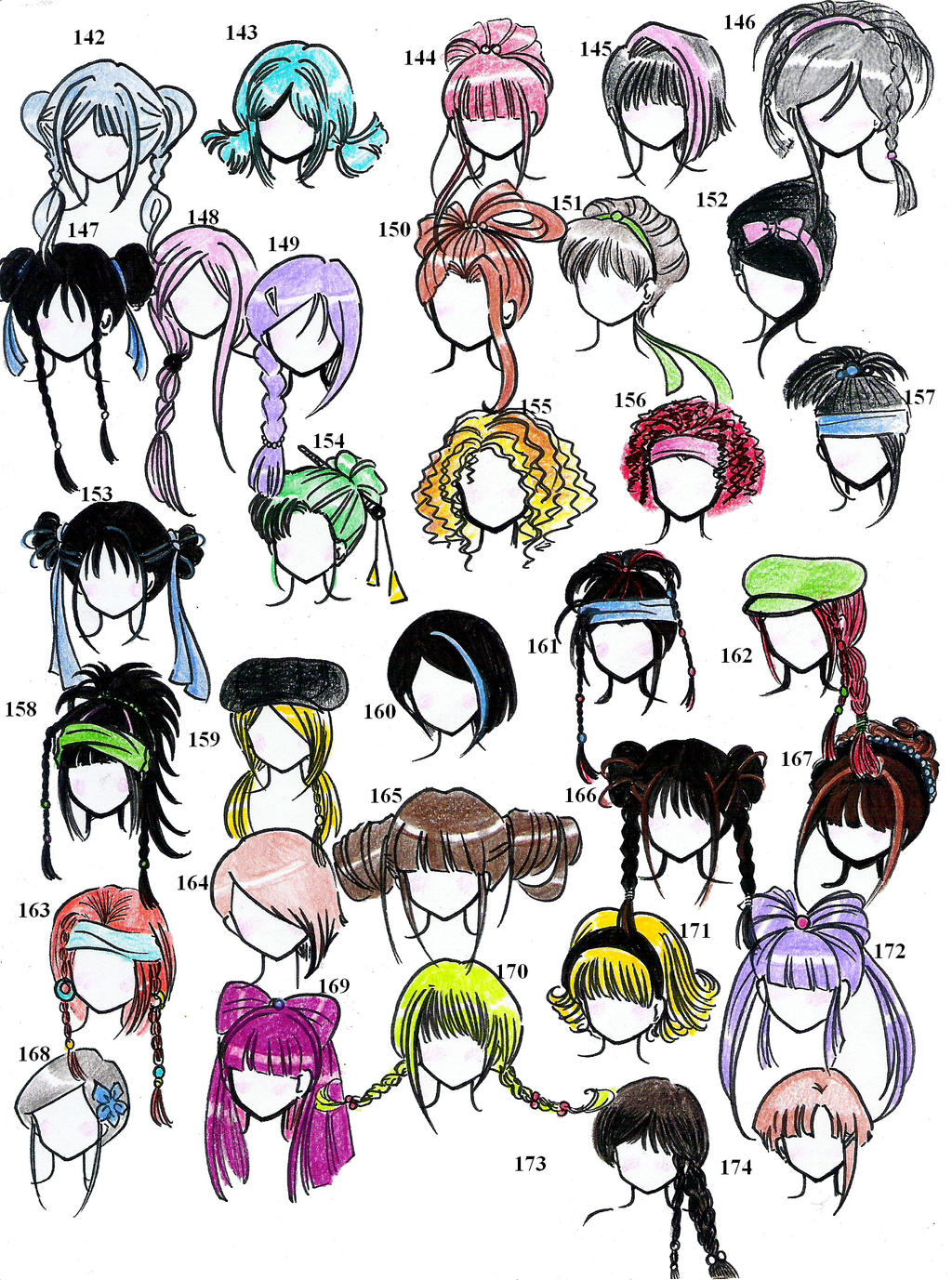 50 Anime-Male Hairstyles by OrangeNuke on DeviantArt