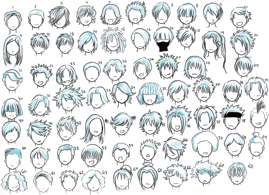 cool anime boy hairstyles. oys hairstyles 01 by