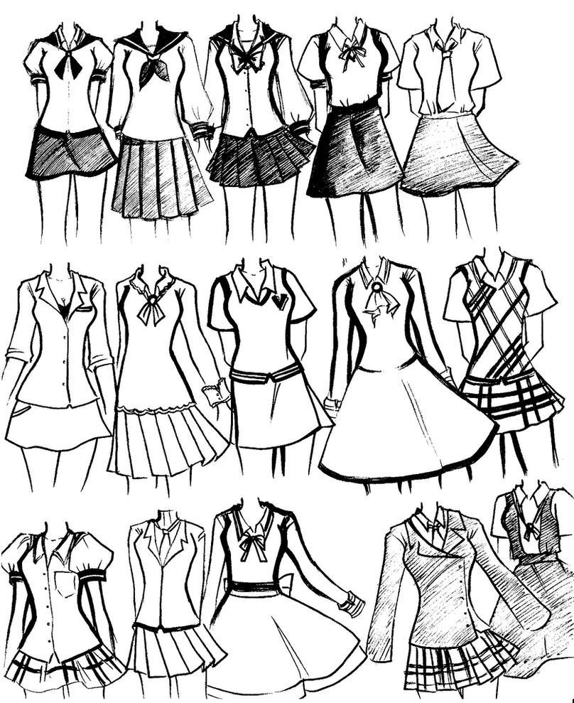 Tutorial School_uniforms_by_NeonGenesisEVARei