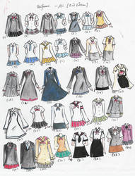 school uniforms 2nd edition by NeonGenesisEVARei