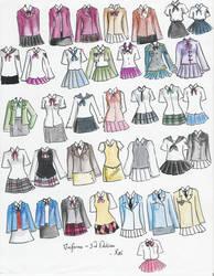 school uniforms 3rd edition by NeonGenesisEVARei
