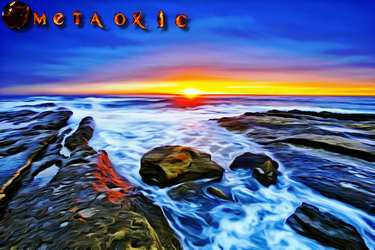 A Beautiful Surreal Beach by Metaoxic