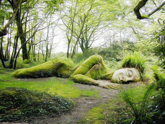 The Sleeping Goddess at the Lost Gardens of Heliga by Metaoxic