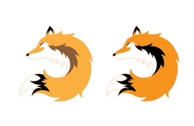 Logo Design for Fable Mountain - Fox Circle by INK-MOON