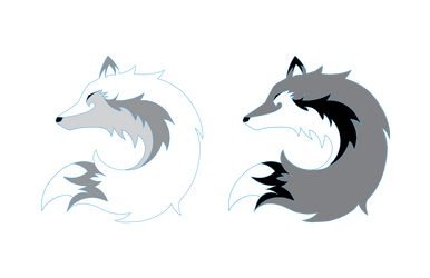Logo Design for Fable Mountain - Wolf Circle by INK-MOON