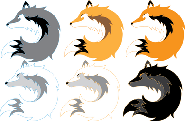 Logo Design for Fable Mountain - Foxes and Wolves by INK-MOON