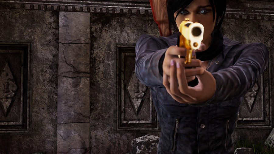 Uncharted 2 Chloe Golden Gun By Nonalizhus