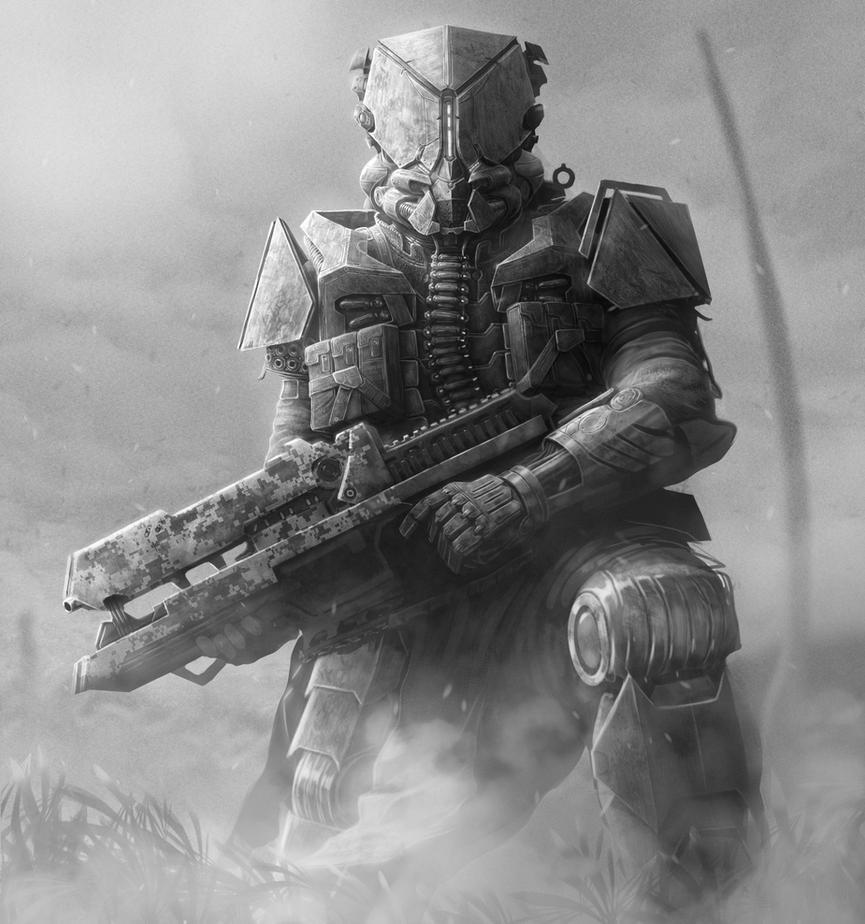 Cyber Armour - B'n'W by Fatmarco