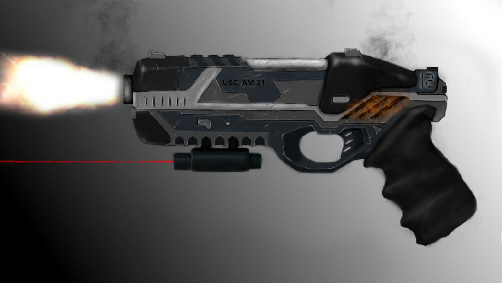 futuristic pistol concept art by braffe on deviantart