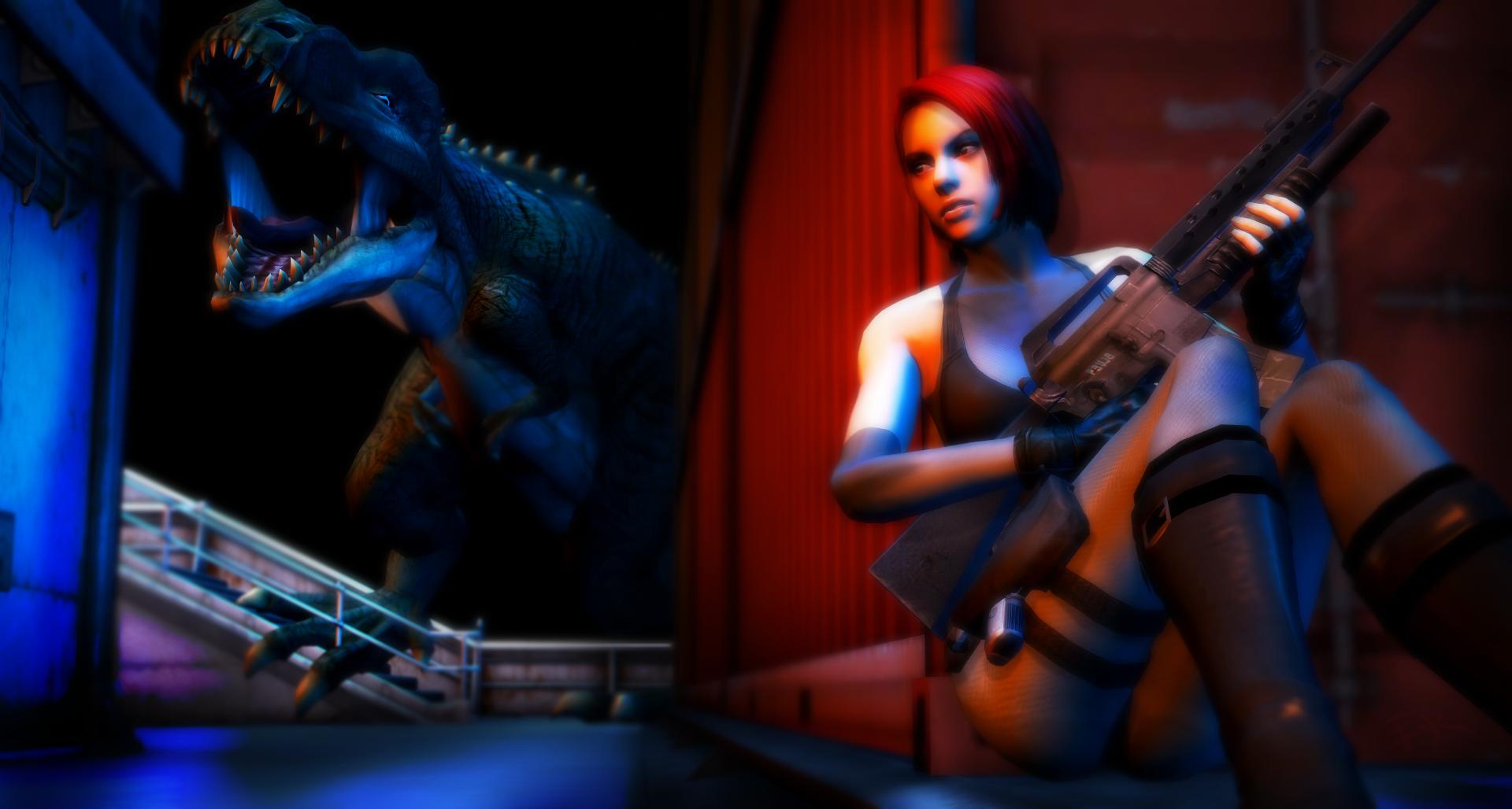 Regina Vs T-rex by IIReII