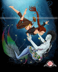Two Worlds Pirate and Merman Love