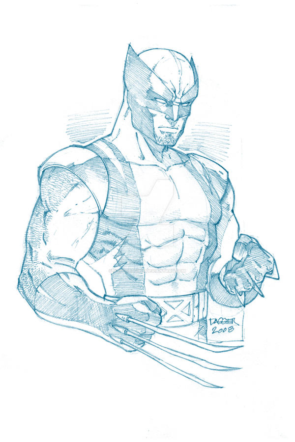 Line Art Vs Sketch : Wolverine pencil sketch by daggerpoint on deviantart