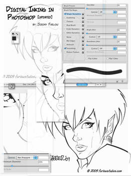 Photoshop Digital Inking CS4 by DaggerPoint