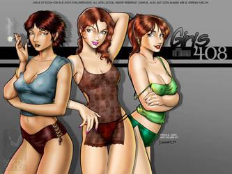 Girls of Room 408 Wallpaper by DaggerPoint