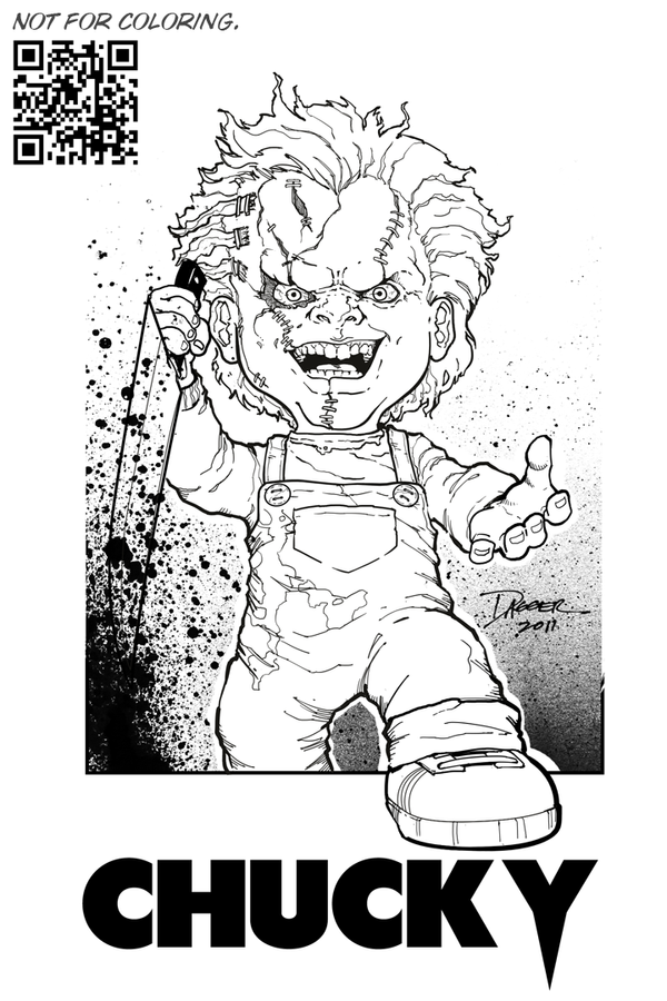 chucky coloring pages to color - photo#34