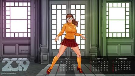 Girls of 408 2019 Desktop Calendar with Joey