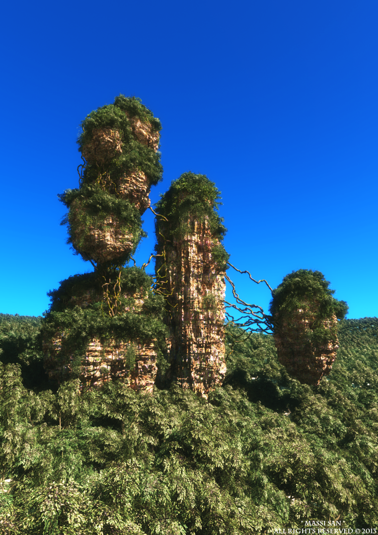 Avatar Mountains Test1© by Massi-San