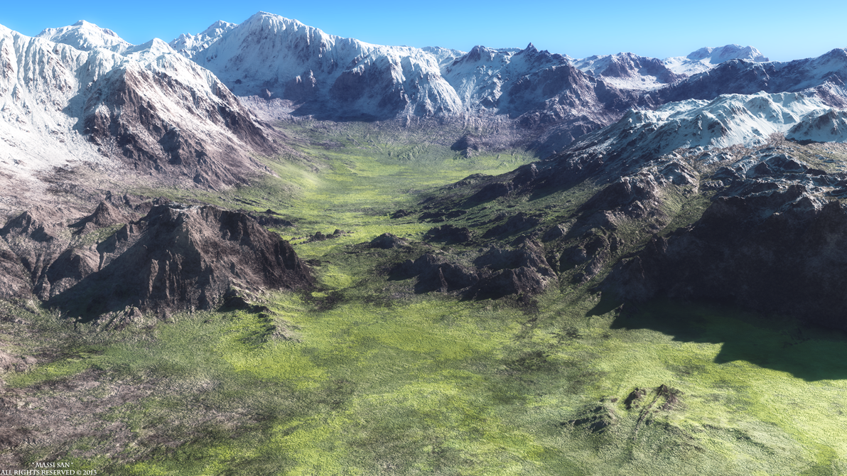 Mountain Material Test© by Massi-San