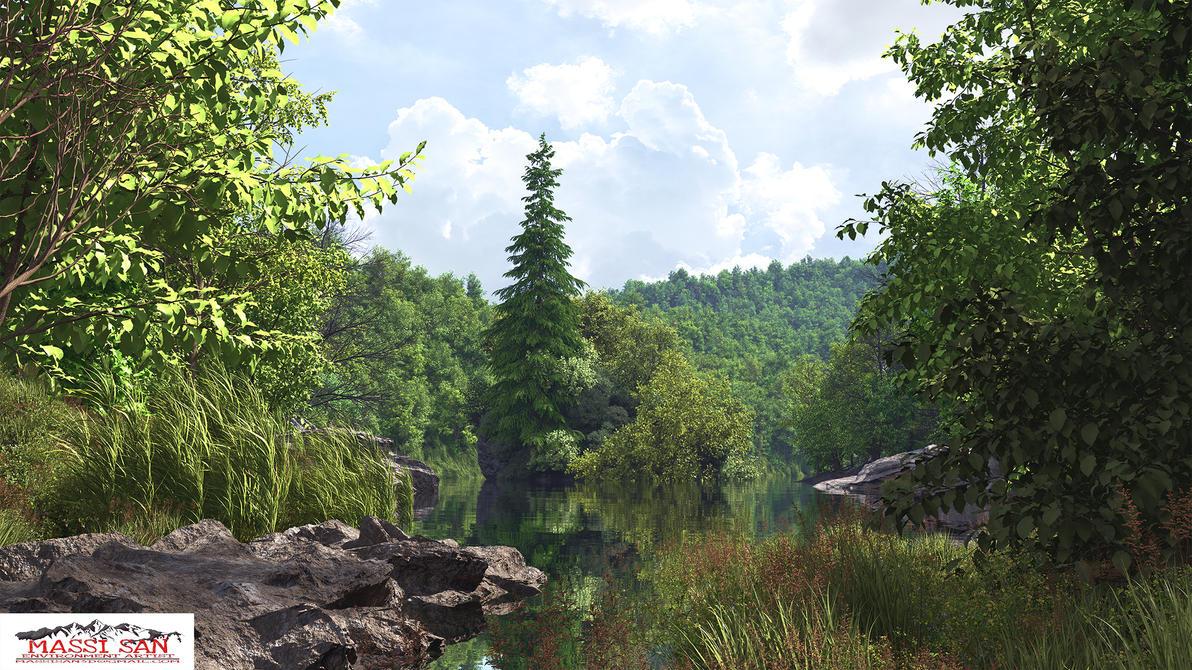 Hidden Lake Da by Massi-San
