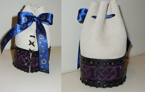 Celtic Knot Dice Bag by JN-Leather
