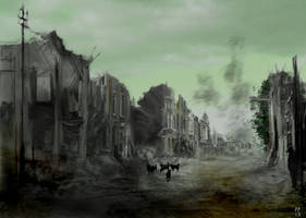 Riddley Walker concept - Bernt Arse Dead Town