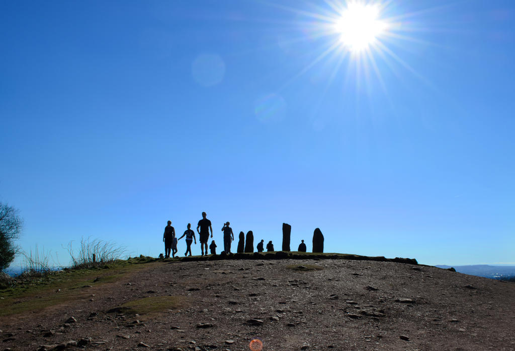 Stones and people skyline by popicok
