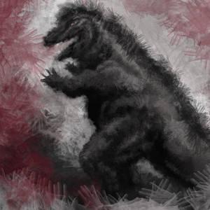 Godzilla in hands