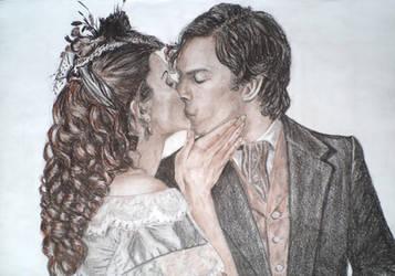 Katherine and Damon by atlantiss505