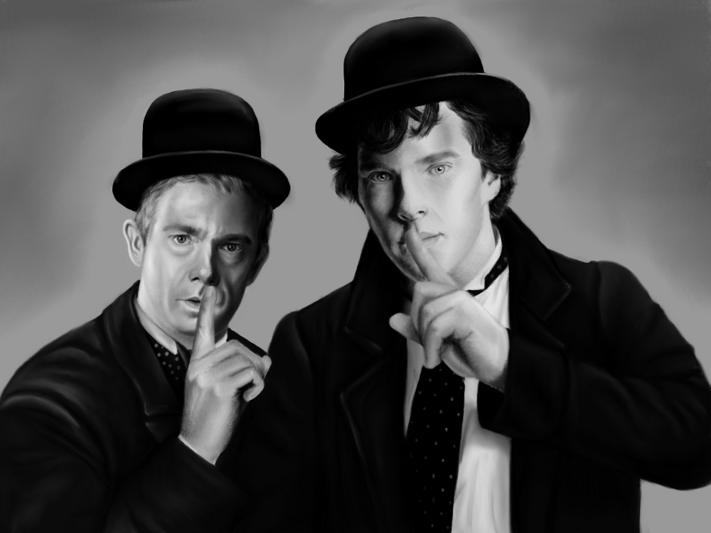 John Laurel and Sherlock Hardy by atlantiss505