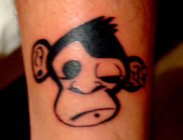 Monkey tattoo better by denisbembi