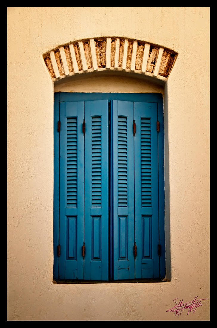 Window in Folegandros Greece by etsap