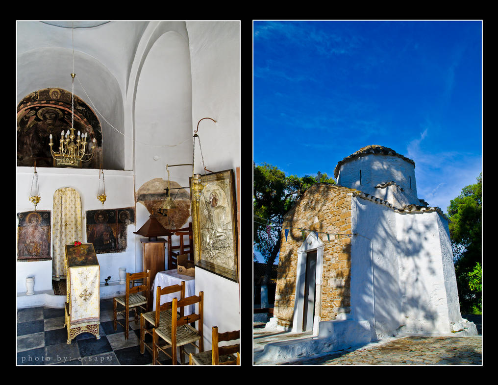 Greek Orthodox country church by etsap