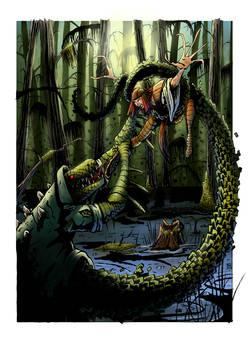 Lady Deathstrike versus the Lizard