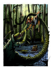 Lady Deathstrike versus the Lizard