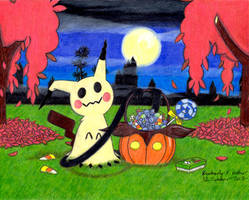 Halloween Mimikyu by LuckyNumber113