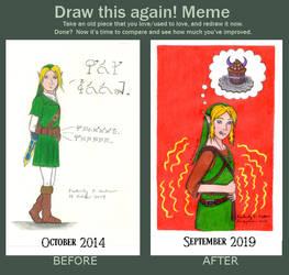 Draw This Again! Meme: Poor Link: Got Food? (V1)