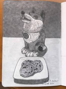Wolf Cookie Jar
