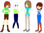 Undertale: Chara, Asriel, Frisk, And Me by Blueberry-MLP