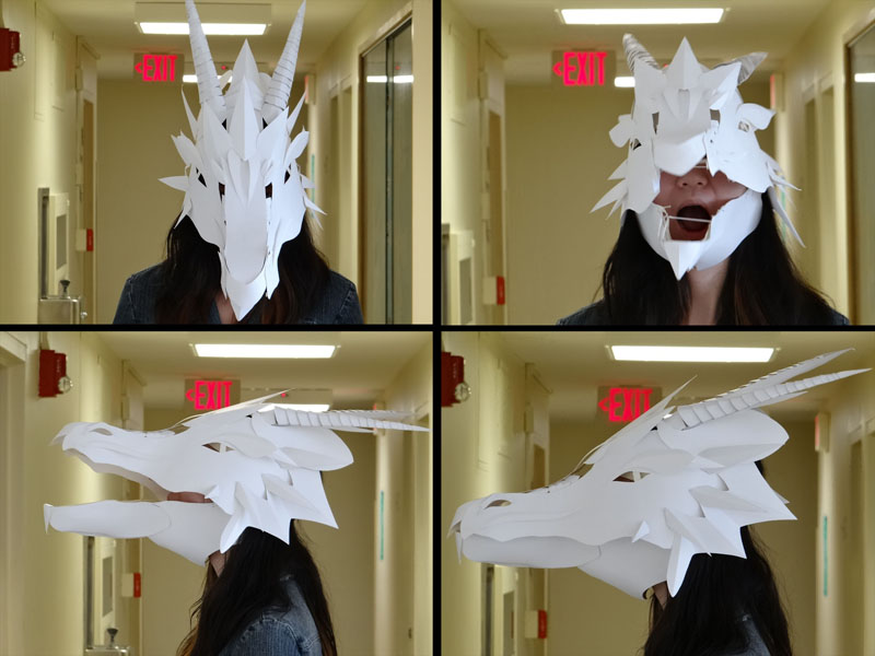 how to make a paper dragon head