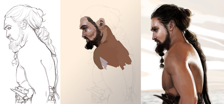 Khal Drogo WIP by CelestialFrost