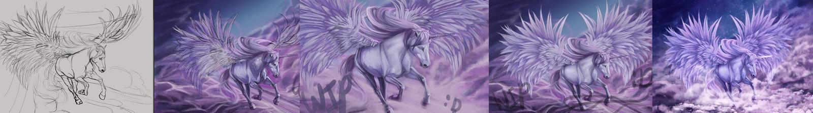 Work in progress unicorn by CelestialFrost