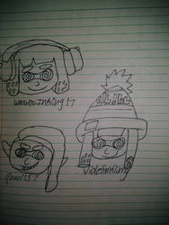 Sketch on the Inkling Girls by WooWooInkling17
