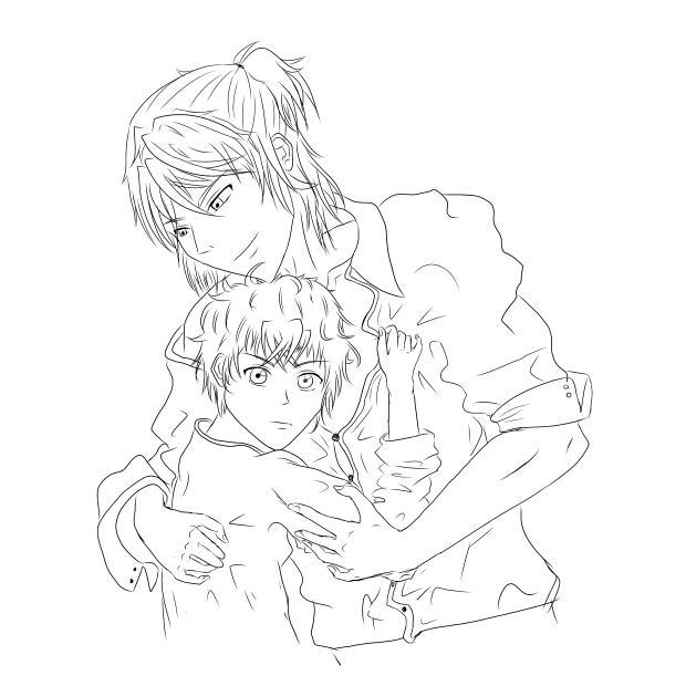 Super Lovers Haru X Ren Lineart by YuKi-konakona