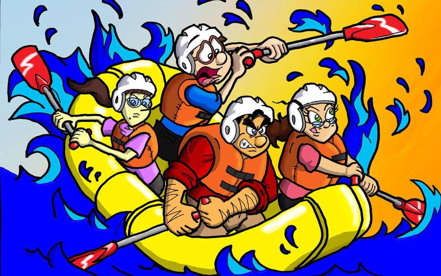 Rafting By Davidcartoon On DeviantArt