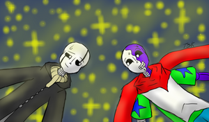 RT!Gaster and Arty!Sans in the stars... [CONTEST] by TheSkeletonKid