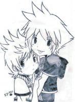 Kingdom hearts Sora and Roxas by Kagura14